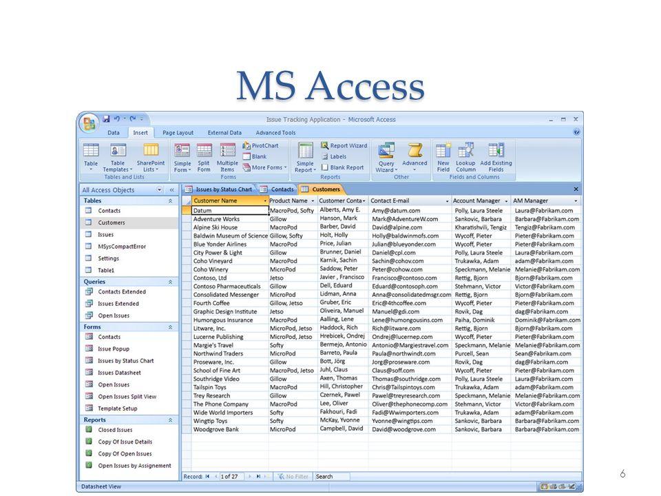 MS Access 6