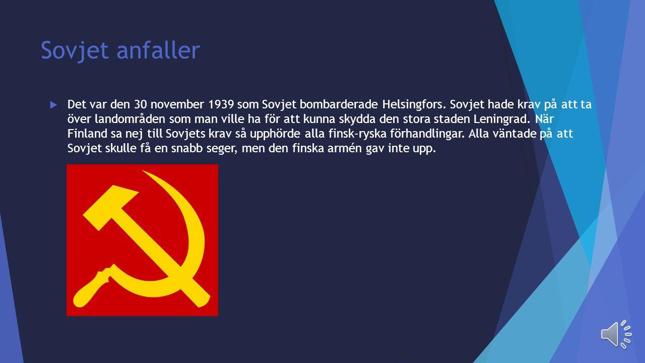 Finland  Finland var det land i Norden som blev mest drabbat av andra världskriget, det gällde både människoliv, härjningar och förlust av landområde