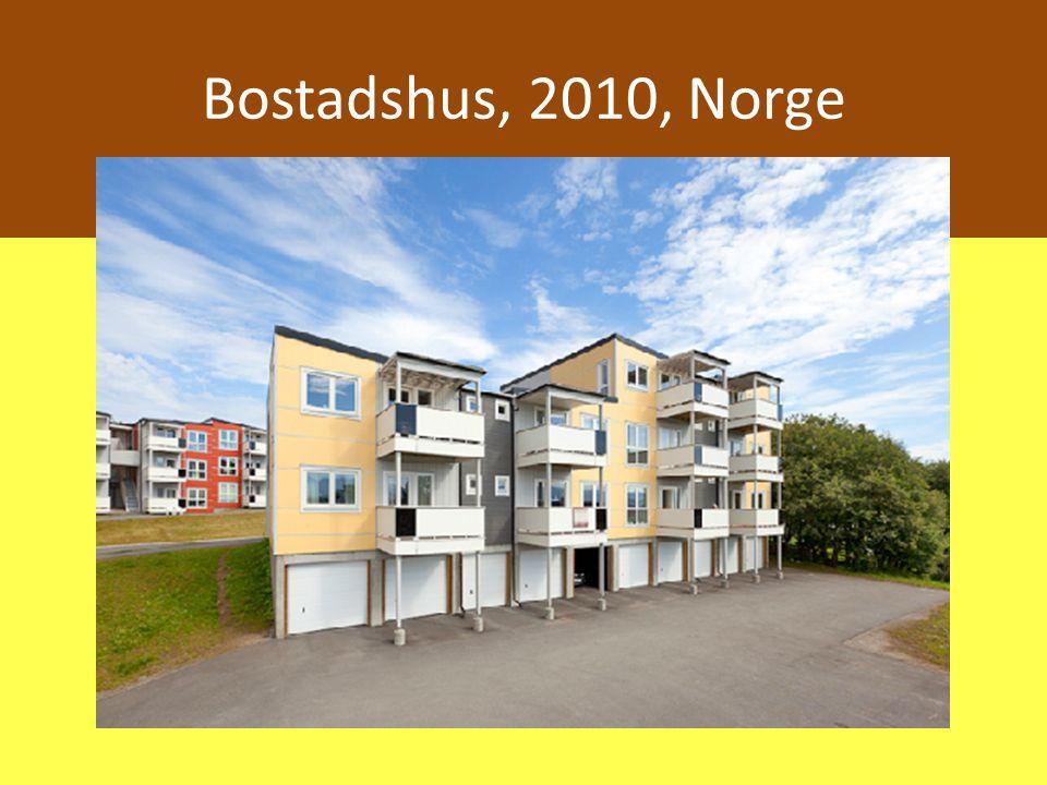 Bostadshus, 2010, Norge