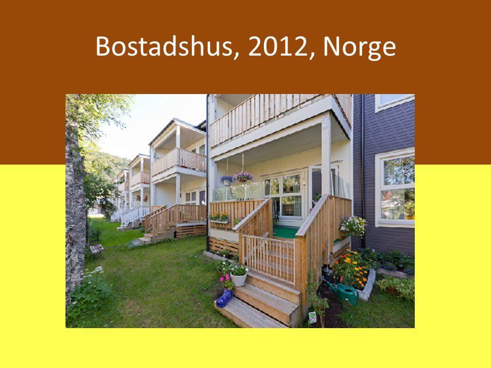 Bostadshus, 2012, Norge