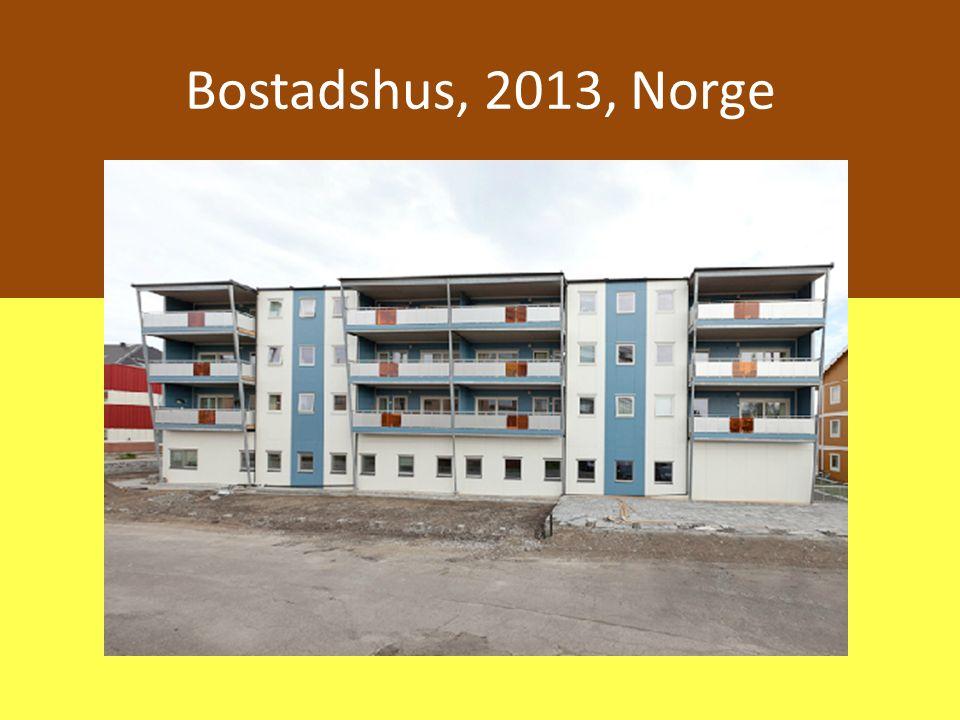 Bostadshus, 2013, Norge