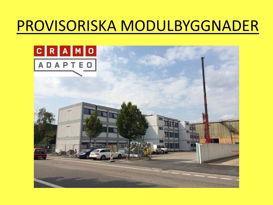 PROVISORISKA MODULBYGGNADER
