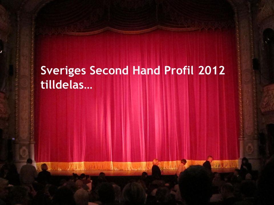 Sveriges Second Hand Profil 2012 tilldelas…