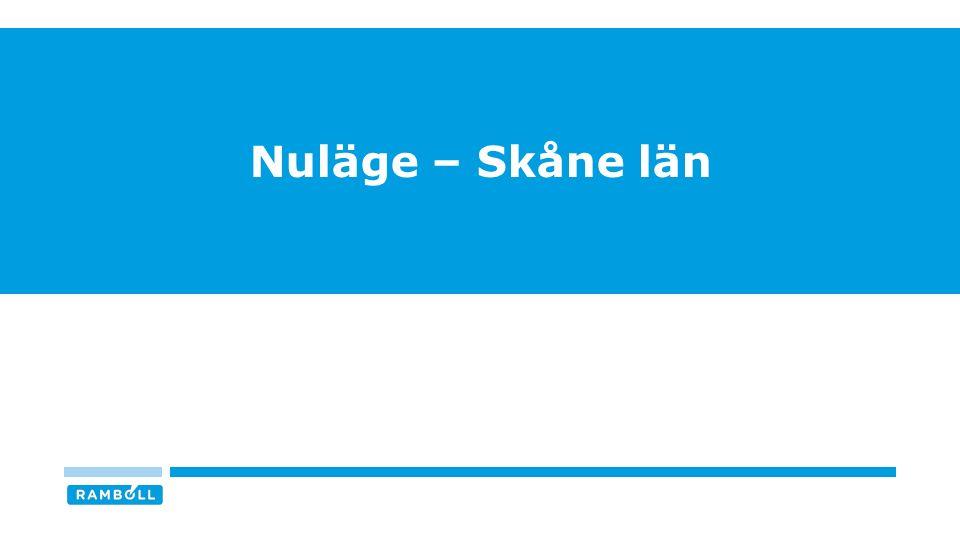 Nuläge – Skåne län