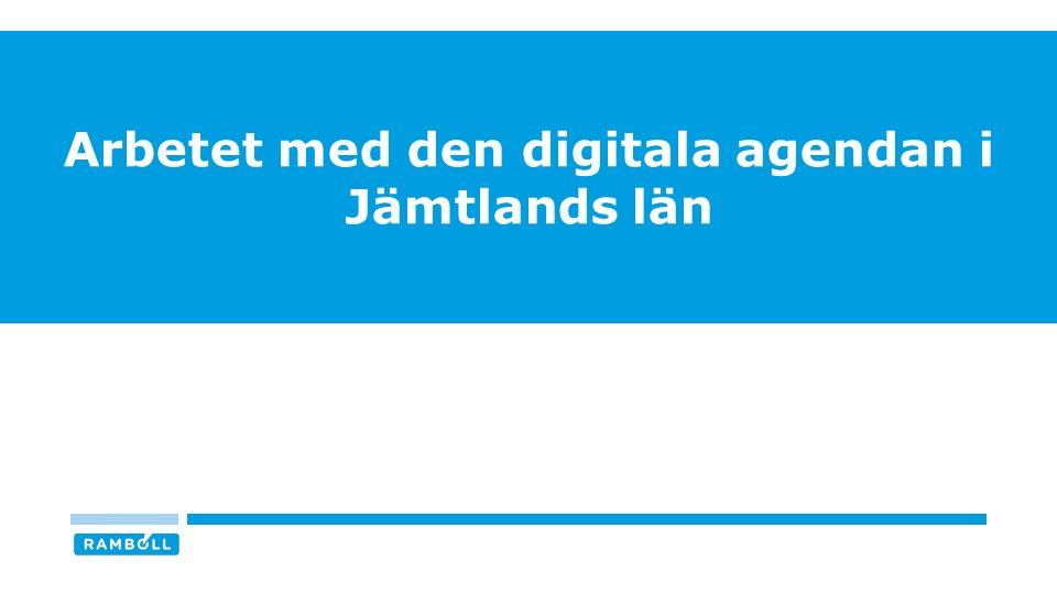 Arbetet med den digitala agendan i Jämtlands län