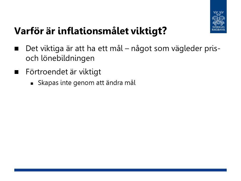 Varför är inflationsmålet viktig t.