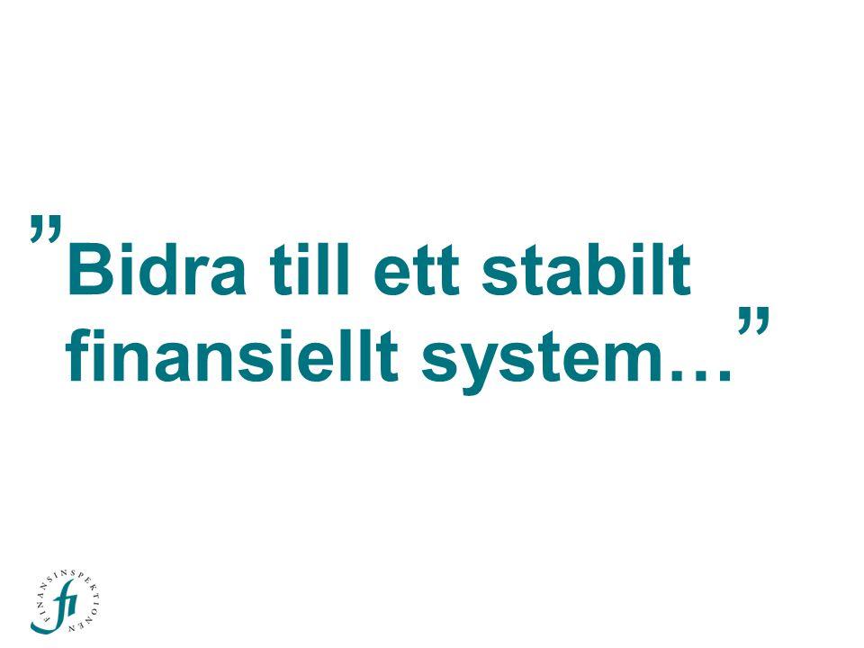 Bidra till ett stabilt finansiellt system…