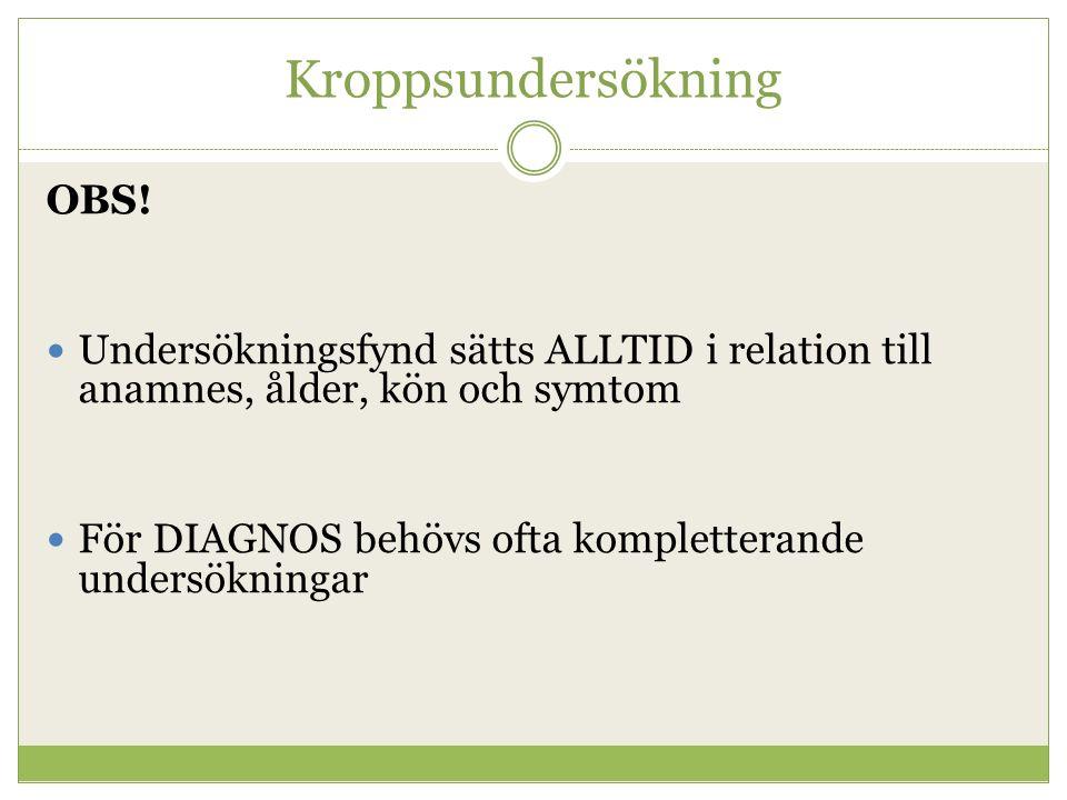 Kroppsundersökning OBS.
