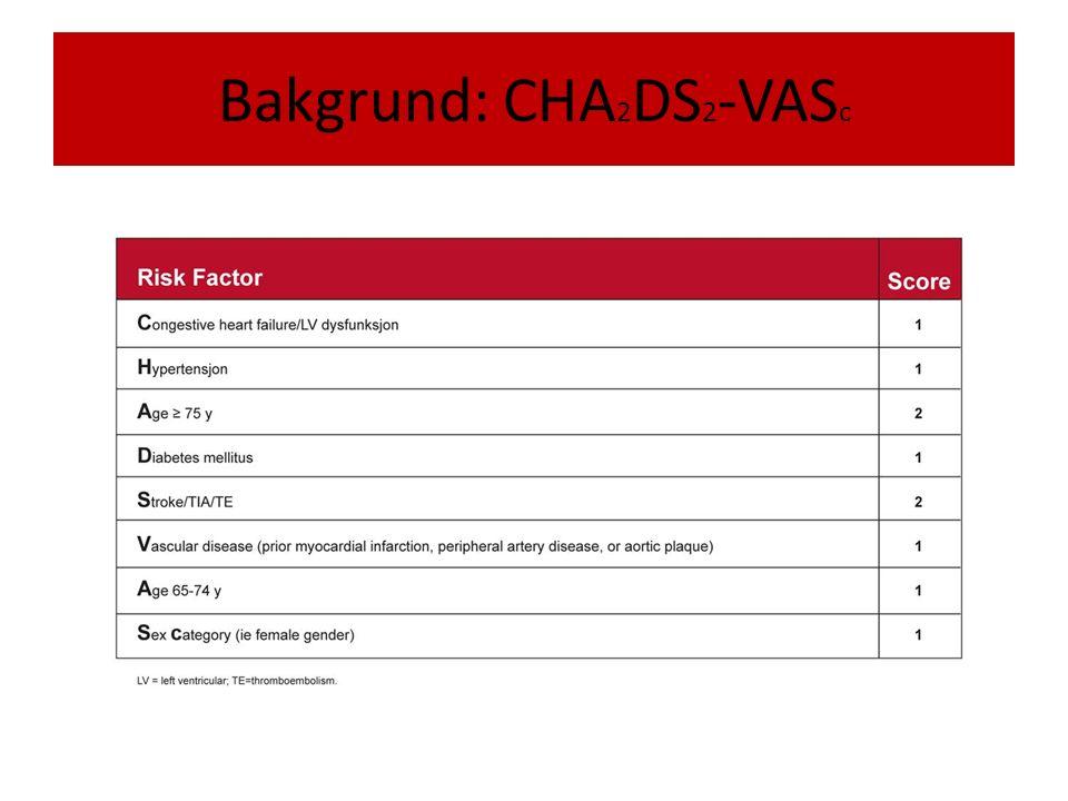 Bakgrund: CHA 2 DS 2 -VAS c