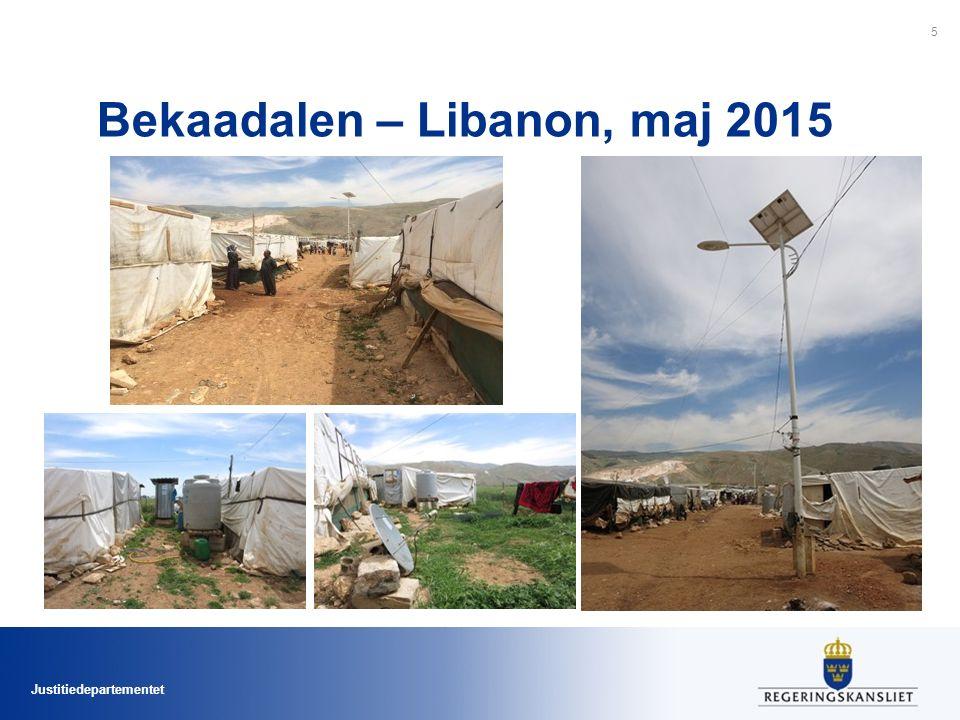 Justitiedepartementet Bekaadalen – Libanon, maj 2015 5