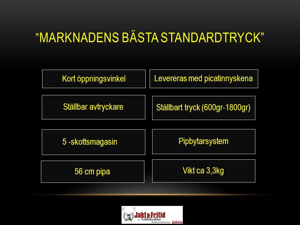 """"""" MARKNADENS BÄSTA STANDARDTRYCK"""" Kort öppningsvinkel 56 cm pipa Ställbar avtryckare Ställbart tryck (600gr-1800gr) 5 -skottsmagasin Pipbytarsystem Le"""