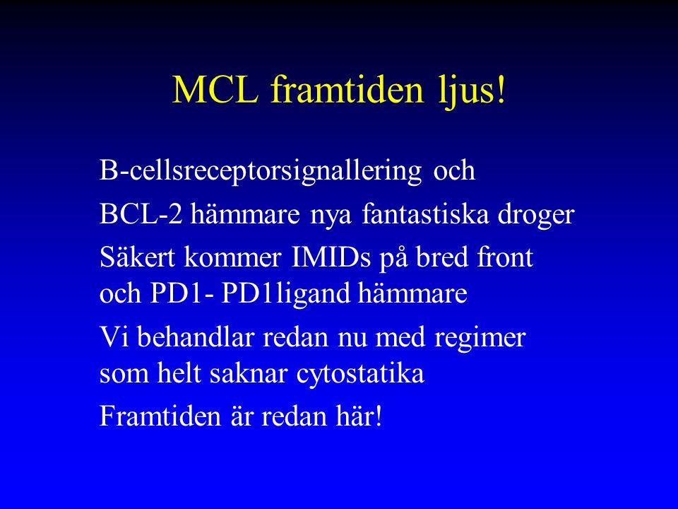 MCL framtiden ljus! B-cellsreceptorsignallering och BCL-2 hämmare nya fantastiska droger Säkert kommer IMIDs på bred front och PD1- PD1ligand hämmare