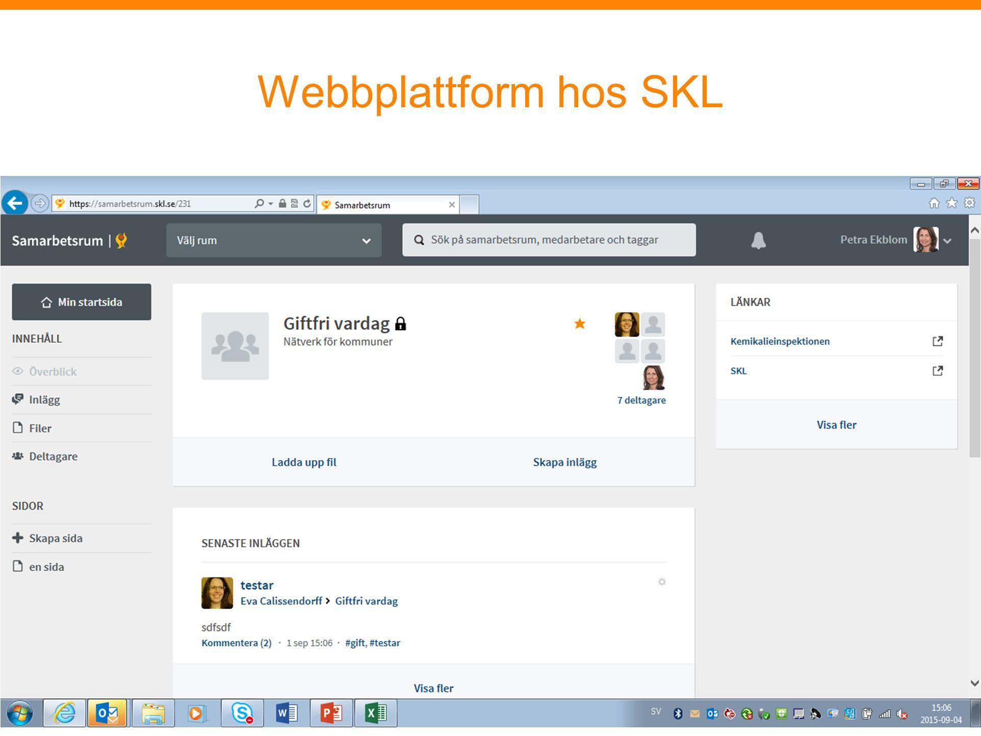 Webbplattform hos SKL