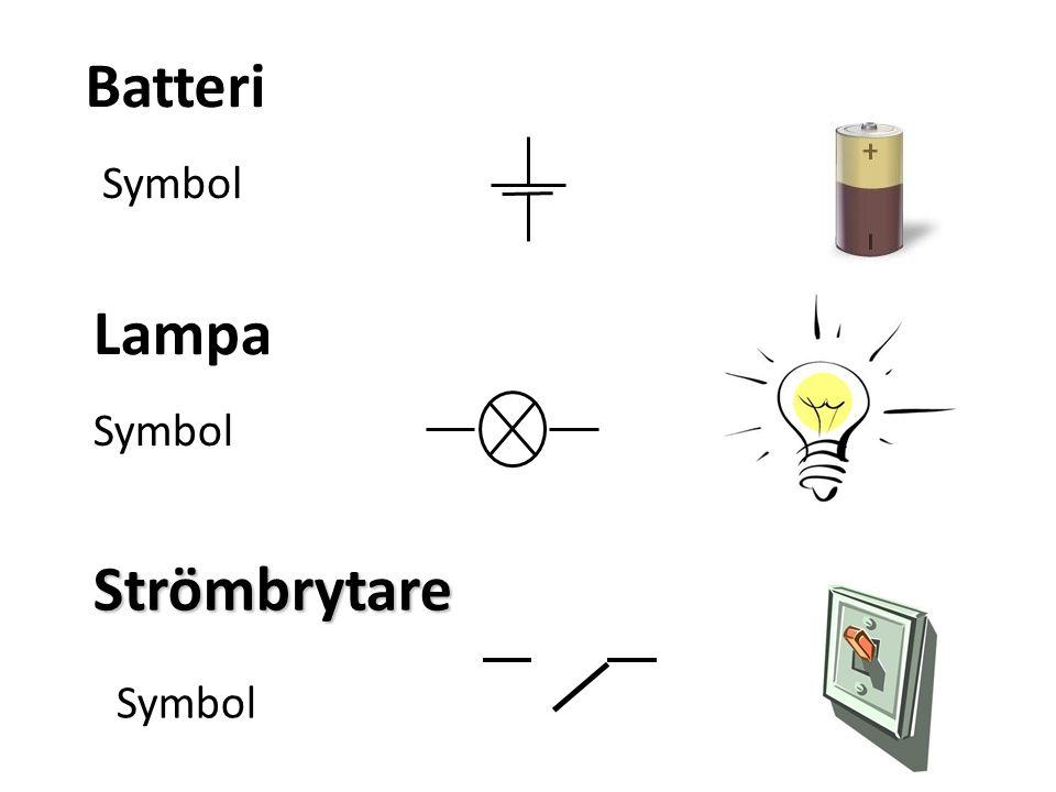 Batteri Symbol Lampa Symbol Strömbrytare