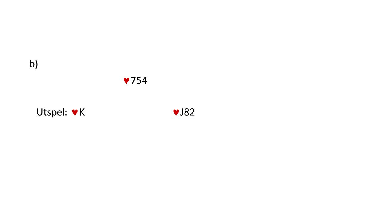 b) 754 Utspel: K J82