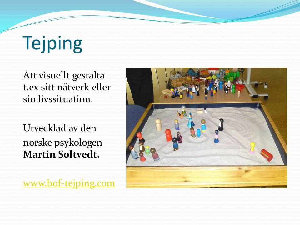 Tejping Att visuellt gestalta t.ex sitt nätverk eller sin livssituation.