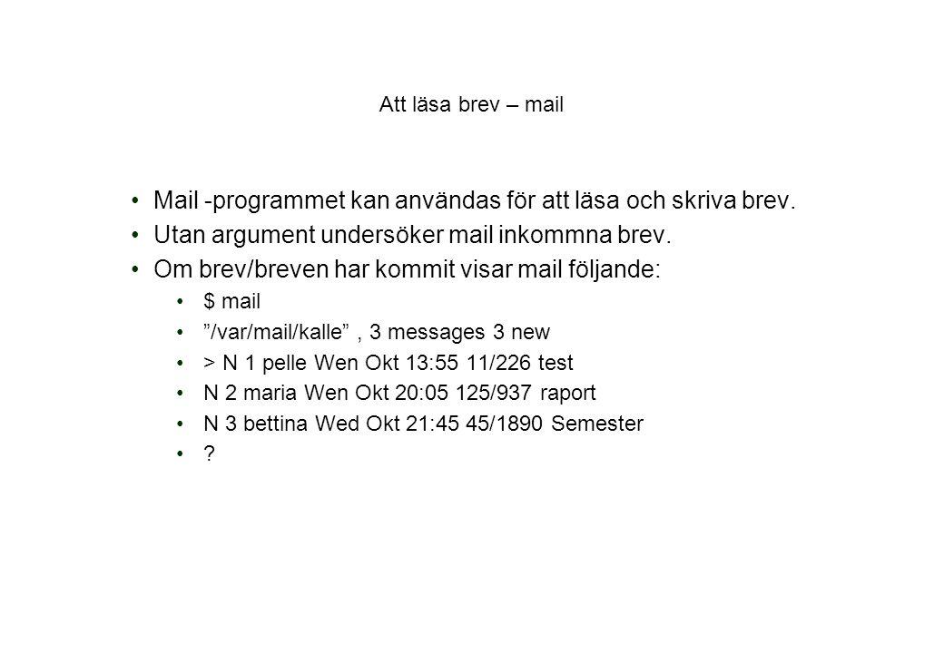 Att läsa brev – mail Mail -programmet kan användas för att läsa och skriva brev.