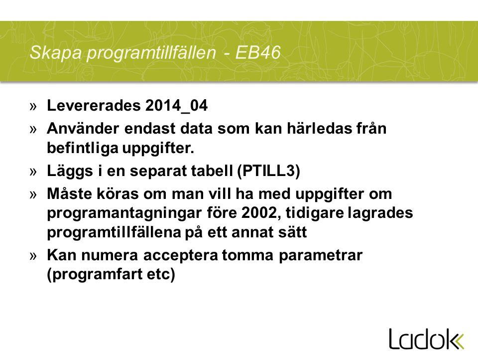 Skapa kurstillfällen för kurser inom program med terminsregistrering - EB47 »Levererades 2015_01 »Använder i första hand data som kan härledas från befintliga uppgifter, men kan i sista hand använda standarvärden.