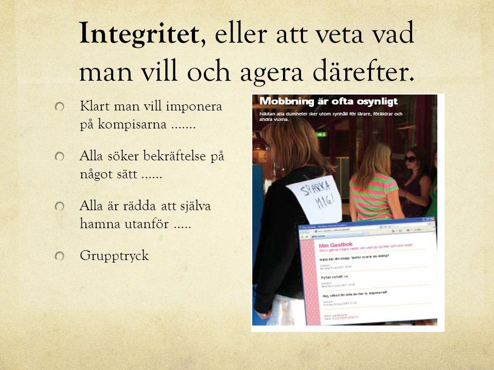 Integritet, eller att veta vad man vill och agera därefter.