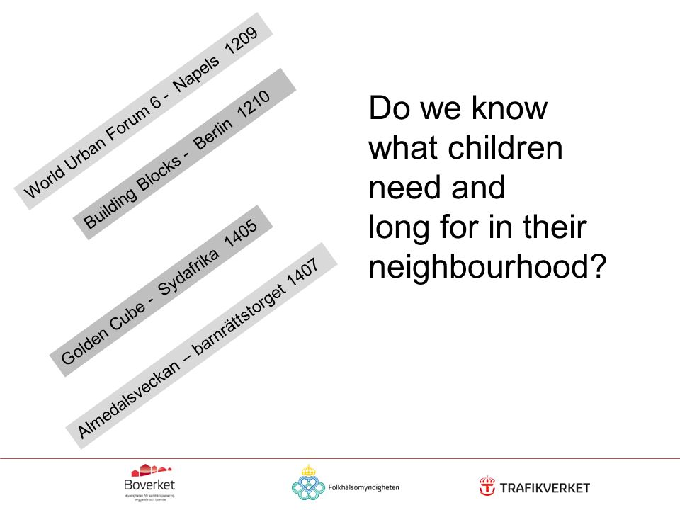 Do we know what children need and long for in their neighbourhood.