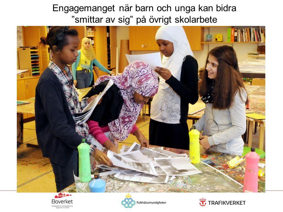 """Engagemanget när barn och unga kan bidra """"smittar av sig"""" på övrigt skolarbete"""