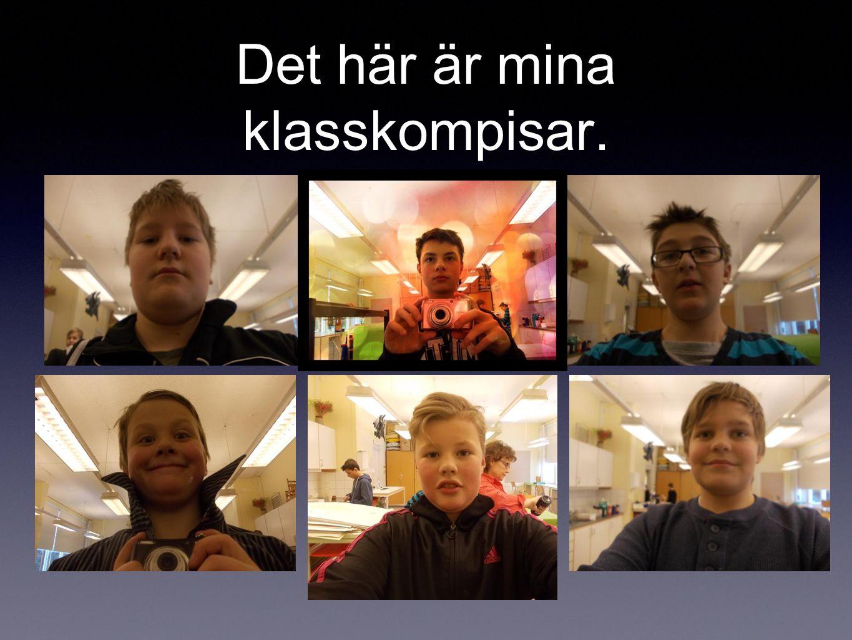 Det här är mina klasskompisar.