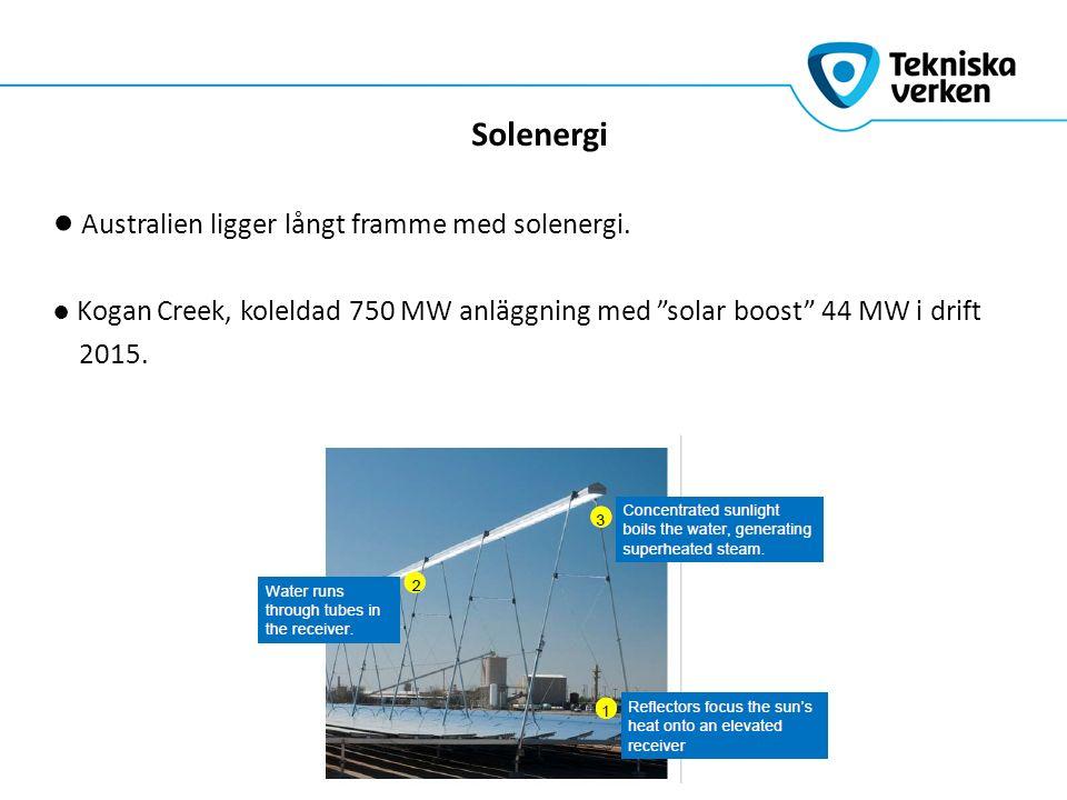 Solenergi ● Australien ligger långt framme med solenergi.