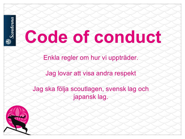 Code of conduct Enkla regler om hur vi uppträder.