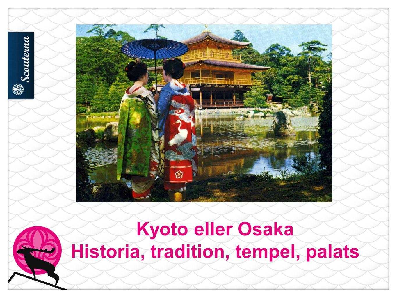 Kyoto eller Osaka Historia, tradition, tempel, palats