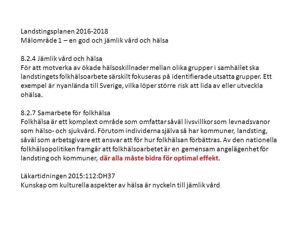 ETT GYLLENE TILLFÄLLE Stärkt samarbete, samverkan och samordning Ökad folkhälsa Snabbare etablering gm effektivare SO Långsiktighet genom bygga på befintliga strukturer Ökat och bättre resursutnyttjande Önskvärda effekter på individ och samhällsnivå Parter Samordningsförbunden Västra Mälardalen och Västerås Köping, Arboga och Kungsör kommuner Västerås kommun Arbetsförmedlingen Landstinget (KCH) Länsstyrelsen Västmanland VKL Västmanlands kommuner och Landsting Övriga kommuner i Västmanland bjuds in till medverkan