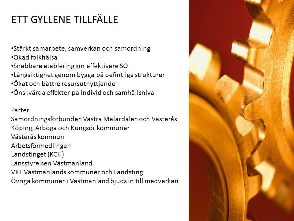 TID FÖR HANDLING OCH BESLUT IDAG Exempel från Ronneby - Henrik Lövgren Projektplan (vad, hur, vem) – Carl Axelsson, Johannes Berglund Frågestund MÅL MED DAGEN Ökat intresse och konkret stöd för ansökan Argumentinsamling att föra vidare till beslutande MÅL FÖR Att KAK och Västerås kommuner bifaller medverkan Att VKL antar huvudmannaskapet (samordnare) Att ansökan skickas in till ESF i Nov för Samhälls- och hälsokommunikatörsutbildning i Västmanland