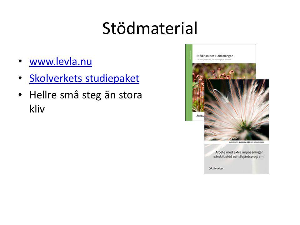 Stödmaterial www.levla.nu Skolverkets studiepaket Hellre små steg än stora kliv