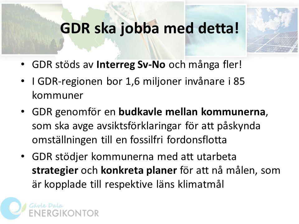 GDR ska jobba med detta. GDR stöds av Interreg Sv-No och många fler.