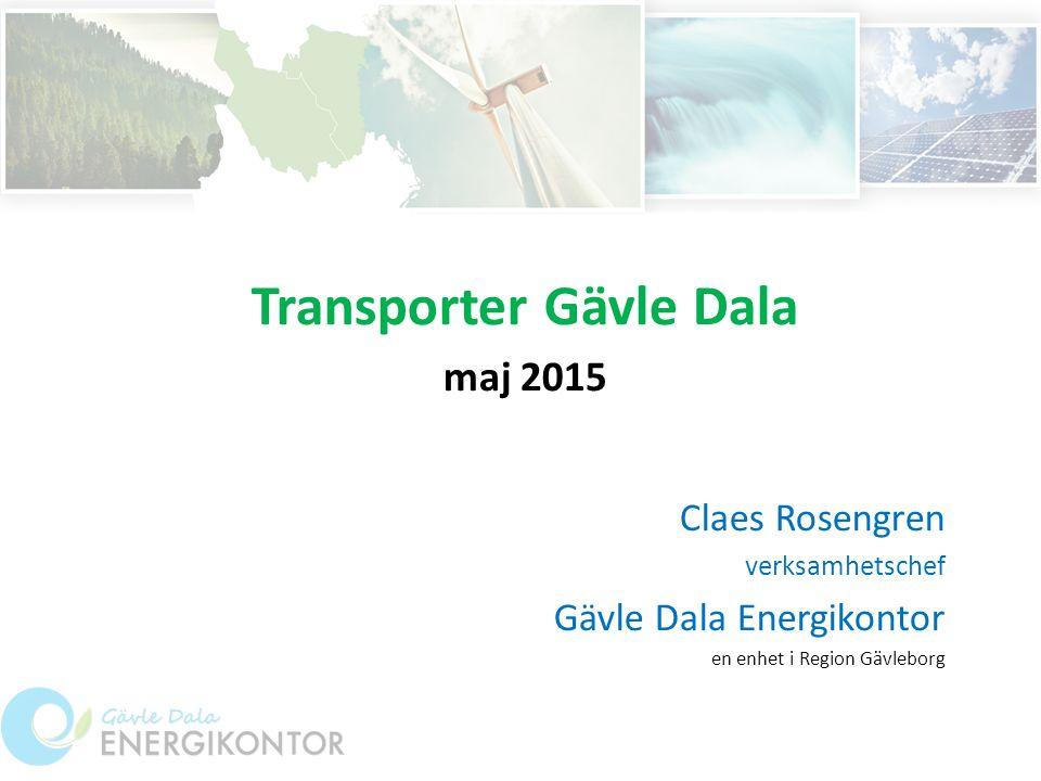 Transporter Gävle Dala maj 2015 Claes Rosengren verksamhetschef Gävle Dala Energikontor en enhet i Region Gävleborg