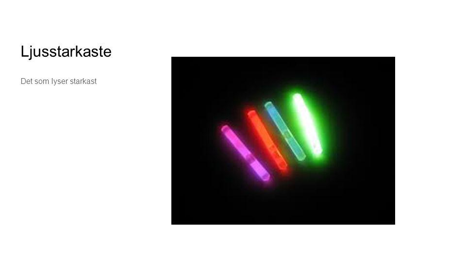 Ljusstarkaste Det som lyser starkast