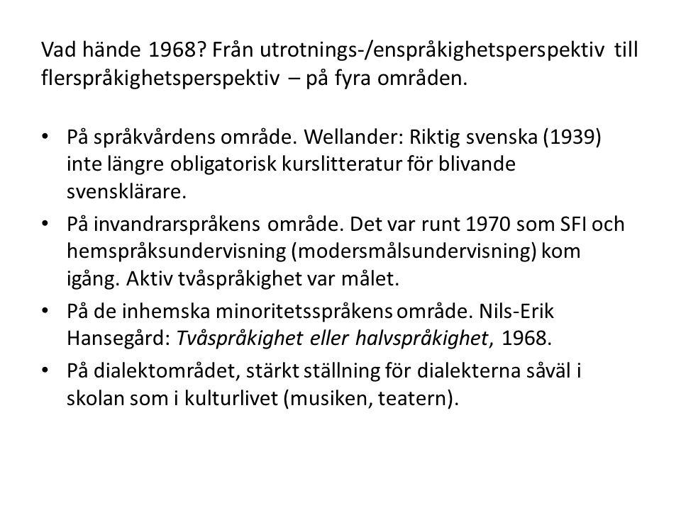 Vad hände 1968.