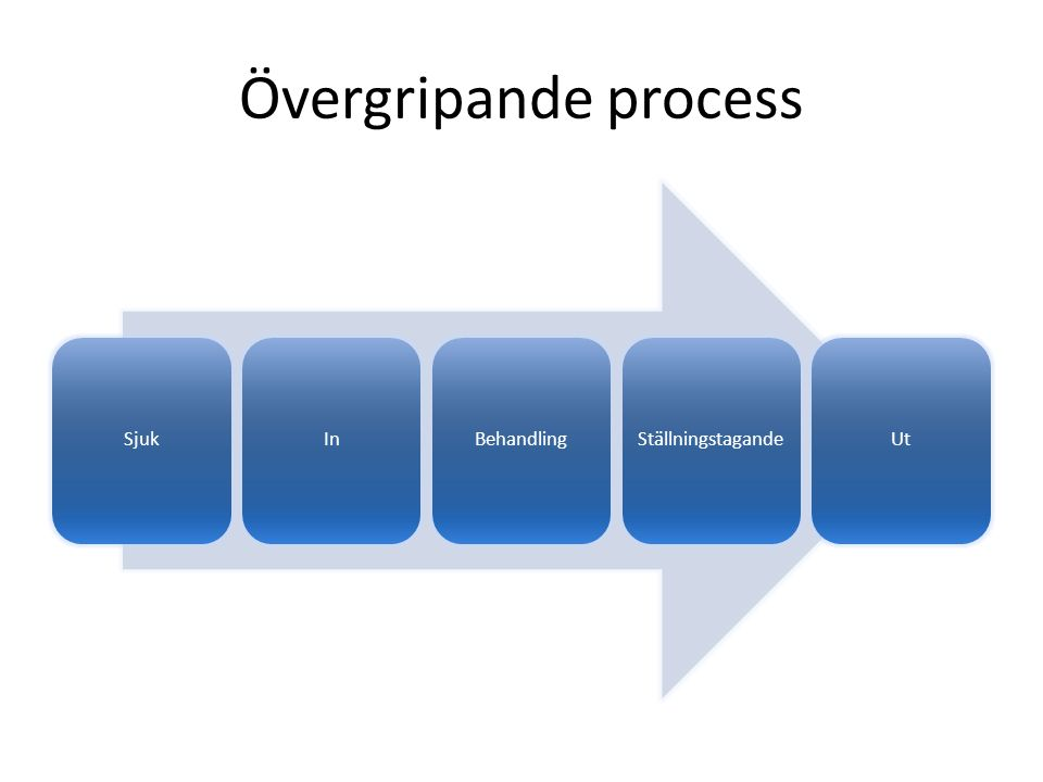Övergripande process SjukInBehandlingStällningstagandeUt