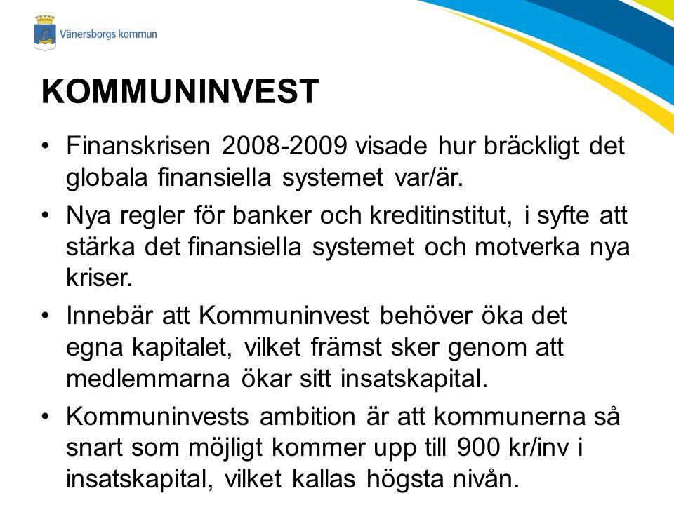 KOMMUNINVEST Finanskrisen 2008-2009 visade hur bräckligt det globala finansiella systemet var/är.