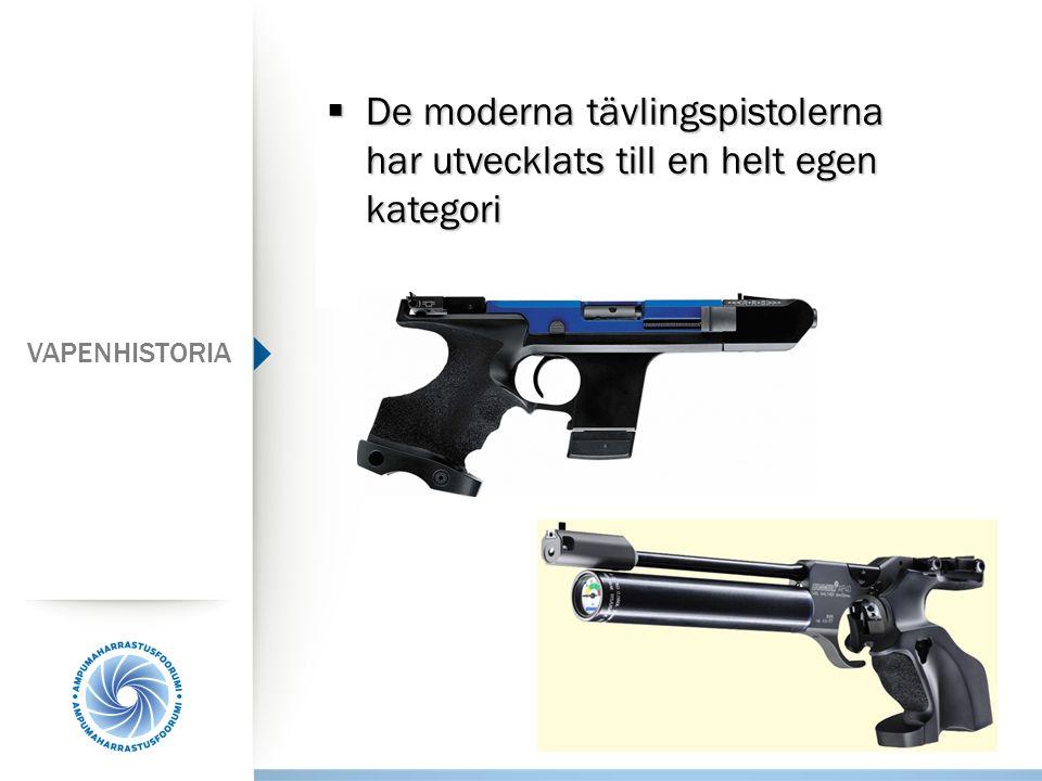  De moderna tävlingspistolerna har utvecklats till en helt egen kategori VAPENHISTORIA