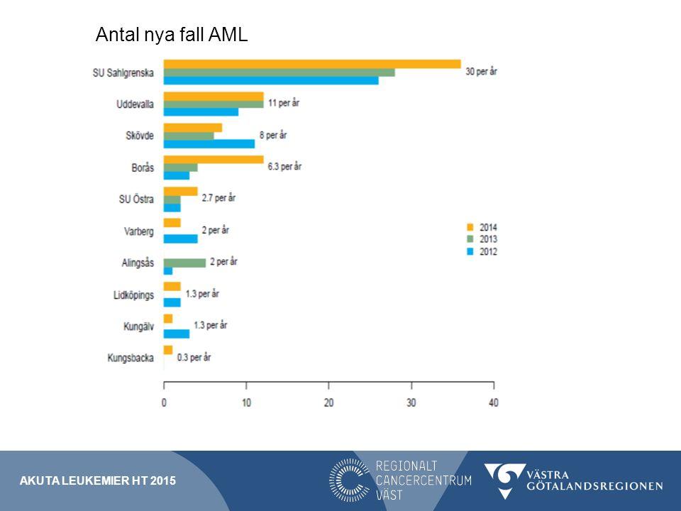 AKUTA LEUKEMIER HT 2015 Antal nya fall AML