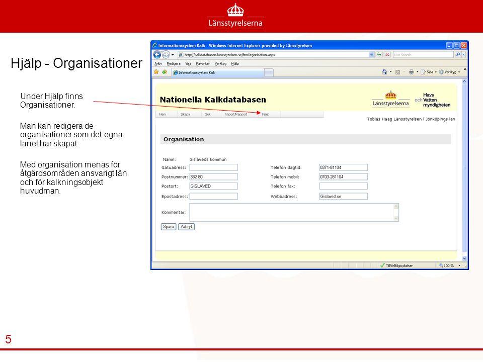 Hjälp - Organisationer Under Hjälp finns Organisationer.