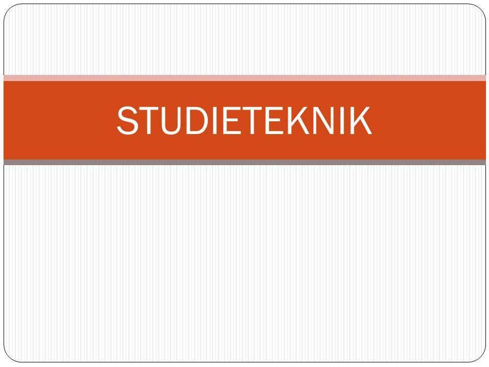STUDIETEKNIK