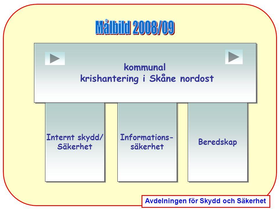 Avdelningen för Skydd och Säkerhet kommunal krishantering i Skåne nordost kommunal krishantering i Skåne nordost Internt skydd/ Säkerhet Internt skydd