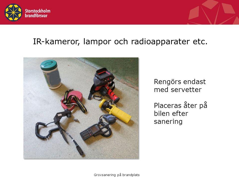 IR-kameror, lampor och radioapparater etc.