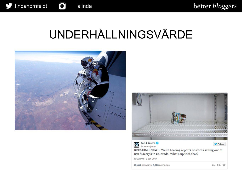 lindahornfeldt lalinda UNDERHÅLLNINGSVÄRDE