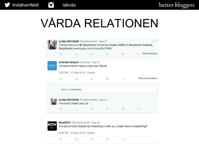 lindahornfeldt lalinda VÅRDA RELATIONEN