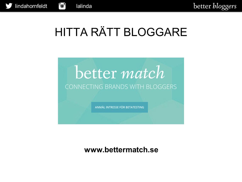lindahornfeldt lalinda HITTA RÄTT BLOGGARE www.bettermatch.se