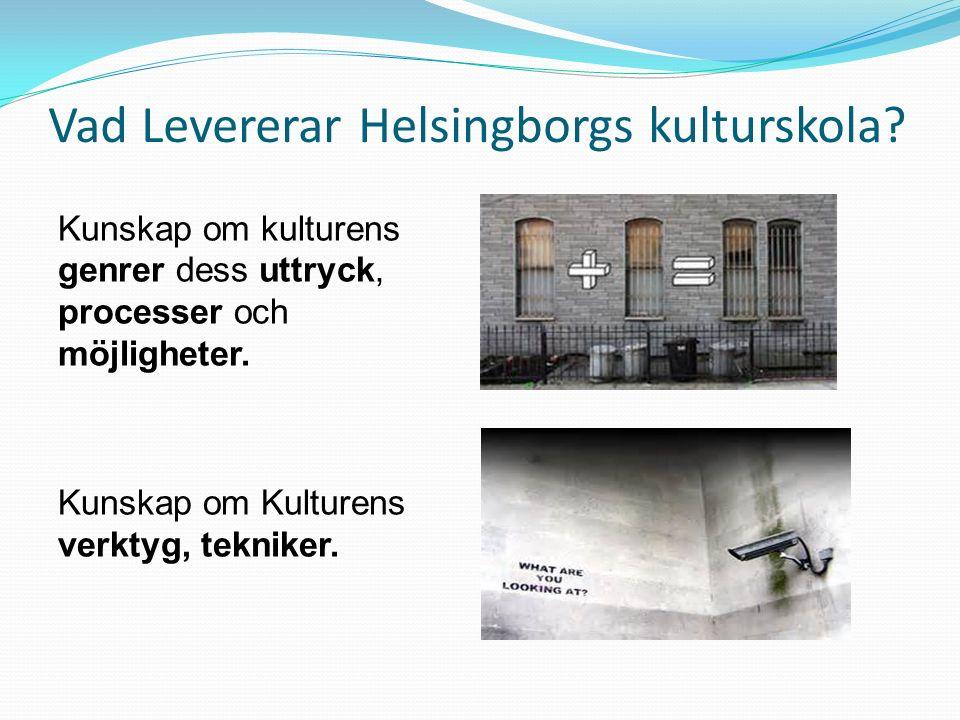 Vad Levererar Helsingborgs kulturskola.