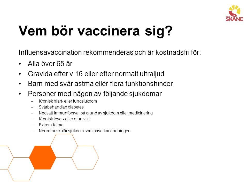 Vem bör vaccinera sig.