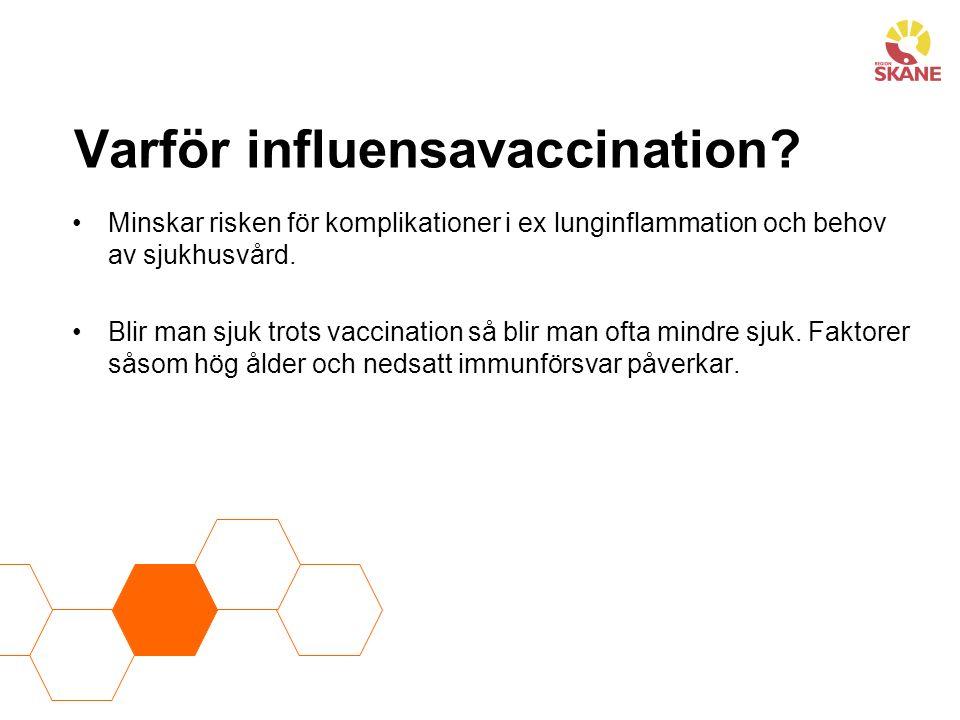 Varför influensavaccination.